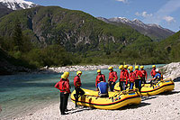 Rafting on Soča